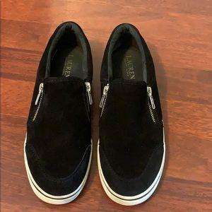 Lauren Ralph Lauren Black Zippered Sneakers